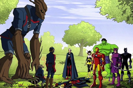 Guardians and Avengers together.