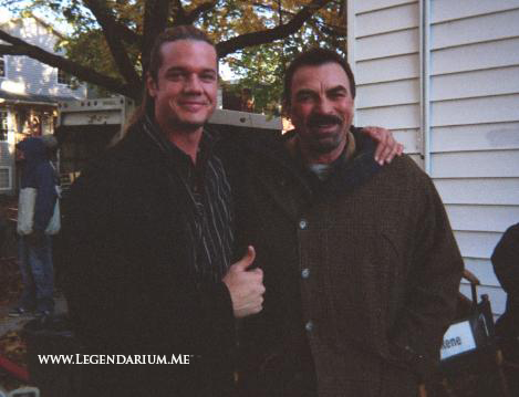 "With Tom Selleck on the set of ""Jesse Stone"""