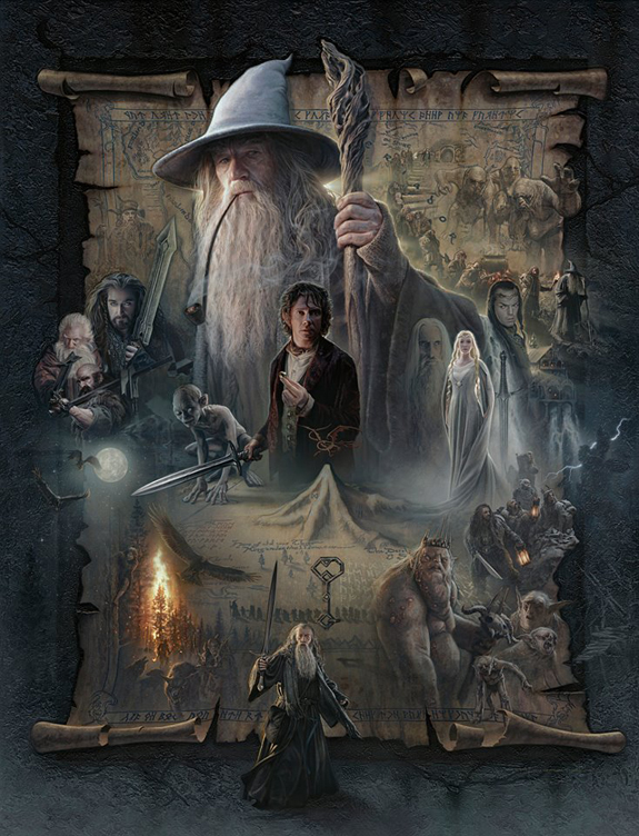 THE HOBBIT: AN UNEXPECTED JOURNEY: ©WBEI ™ Middle-earth Ent. Lic. to New Line. (s13) stated.