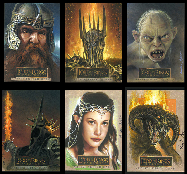 Sketch Cards - THE LORD OF THE RINGS: © NLP ™ Middle-earth Ent. Lic. to New Line. (s13) stated