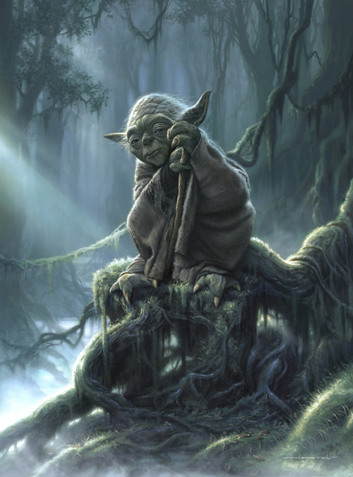 Yoda - From the cover of Star Wars Art : Illustration book - Star Wars© Disney
