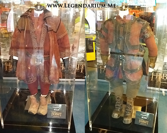 Costumes of Balin and Gloin displayed at the Hobbit Fan Event on Nov. 4th.