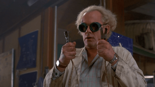 Doc Brown. The inspiring intellectual Mentor/Father Figure we all need.