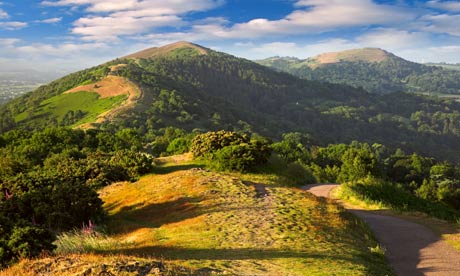 Country Diary : A view toward the Malvern Hills,  Worcestershire.