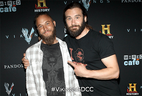 Travis Fimmel and Clive Standen from SDCC 2013